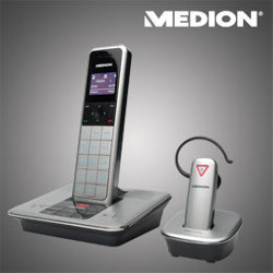aldi nord dect telefon mit headset f r 59 99 euro. Black Bedroom Furniture Sets. Home Design Ideas
